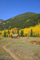 Ashcroft ghost town in Colorado