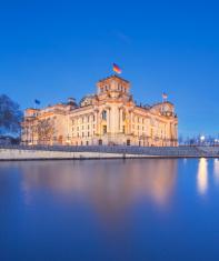 The Reichstag building (Bundestag), famous landmark in Berlin