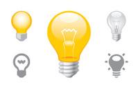 Light Bulb object icons