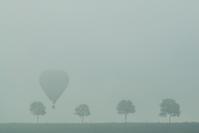 Hot Air Balloon reunion in the fog