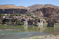 ruined bridge at hasankeyf  city of batman turkey