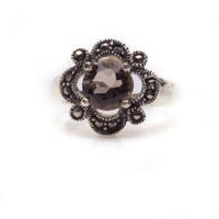 Faceted Smokey Quartz Ring