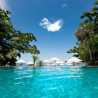 swimming pool by the sea on Ko Pha-Ngan Thailand