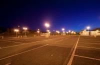 Empty night time carpark