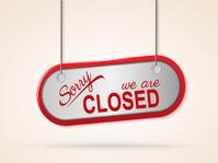 metal closed sign