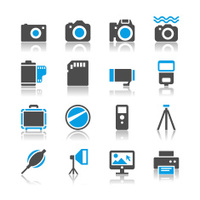 Photography icons - reflection theme