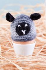 crochet sheep on egg