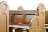 wooden church pew