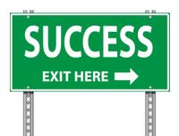 Road Exit Sign   Success