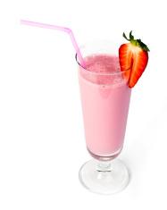 Strawberries milk shake
