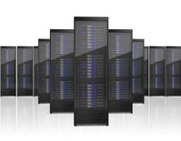 Image of many server racks