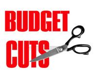 Budget cuts - scissors isolated