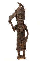 Tribal art statue close up