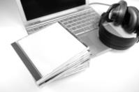 blank cd on laptop