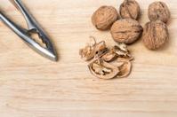 Nut and nutcracker background