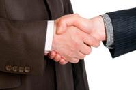 Businessmen hands handshake