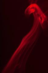 Red dance like smoke