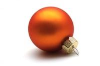 isolated orange christmas sphere