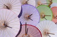 Umbrellas show at Baw Sang Chiang Mai market, Thailand