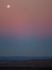 At dusk in North Patagonia.