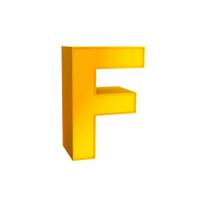 Gold Alphabet Typography Symbol