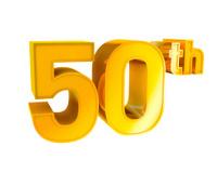 Gold Anniversary Typography Symbol