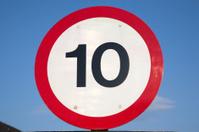 Ten Speed Limit Sign