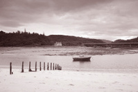 Morar Bay Beach and Boat; Scotland