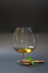 Cognac Balloon isolated on dark background