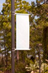 Blank streetlight banner