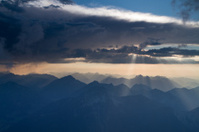 sunrays break through clouds