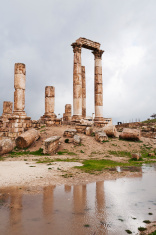 Temple of Hercules in antique citadel, Amman