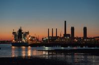 Shipping at dawn