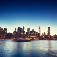 Sunset over Manhattan, NYC