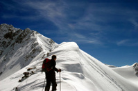 Lonely Ice Trekker