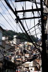 stolen electricity in Rocinha Slum