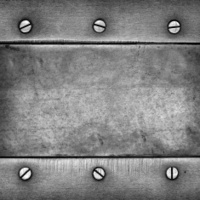 metal surface with screws