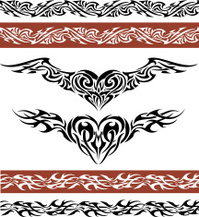 Winged Heart with Border Tattoo Design
