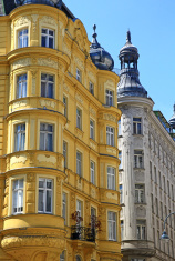Yellow house in Vienna