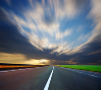 blurred road