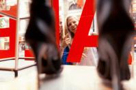 close up shopping sale window