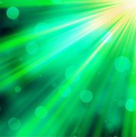 Green luminous rays. EPS 10