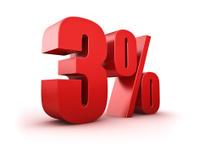 3 percent