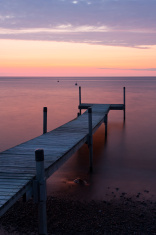 Foot bridge at sunset