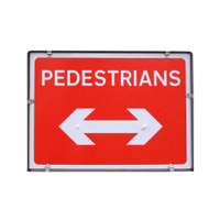 Pedestrian area sign