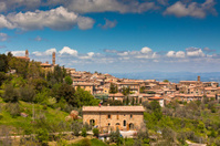 Tuscan wine town of Montalcino view, Italy