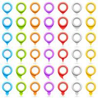 Set of circle pointers