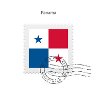 Panama Flag Postage Stamp