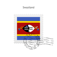 Swaziland Flag Postage Stamp
