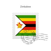 Zimbabwe Flag Postage Stamp